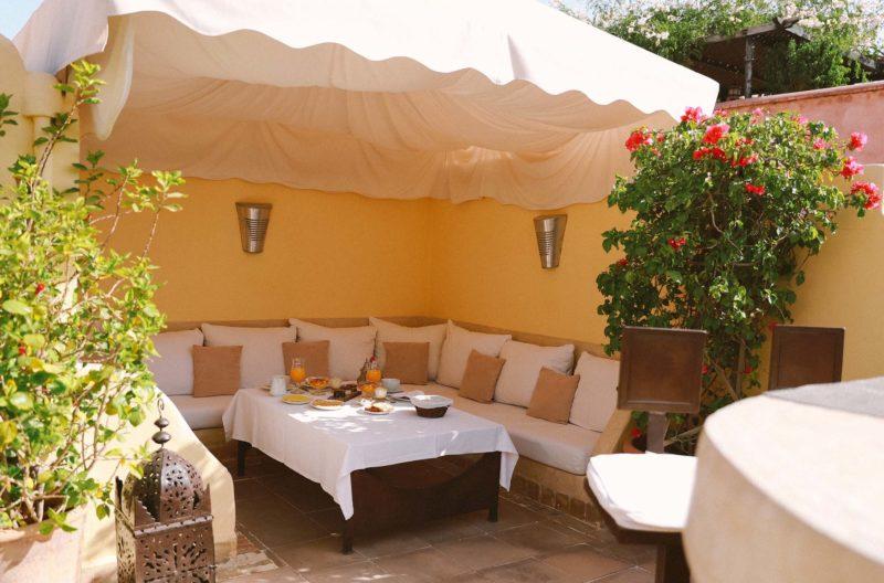 RIAD COCOON MARRAKECH | riad luxe medina, terrasse petit-déjeuner marrakech